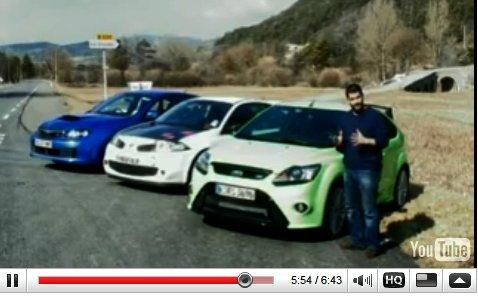 Ford Focus RS : tous les essais vidéo