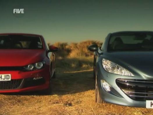 5th Gear : Peugeot RCZ vs VW Scirocco, l'avis anglais sans pitié