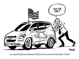 Le dessin du jour – Le coup de pouce vert d'Obama