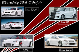 Sema Show 2007: Lexus SC430, Honda S2000, Nissan Altima et Scion Xb by BRS Autodesign