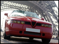 La photo du jour du Rallye de Paris : Alfa Romeo SZ