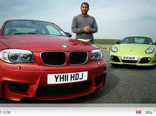 [vidéo] BMW 1M vs Porsche Cayman R par Chris Harris