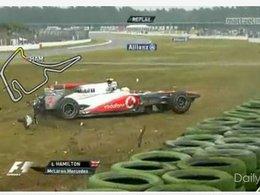 [vidéo] F1 GP d'Allemagne : Hamilton dans le mur