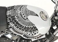 """Moto Guzzi V7 """"tatoo"""": unique... et pas à vendre"""