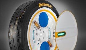 Continental développe un pneu capable de se gonfler seul