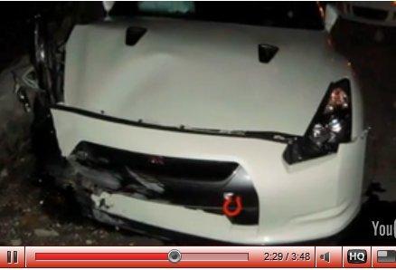 Vidéo crash live : sans maîtrise, la Nissan GT-R n'est rien ...