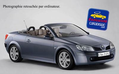 La Clio Coupé Cabriolet   va concurrencer la 206 CC
