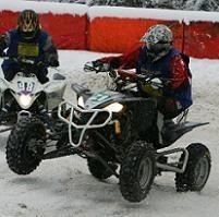 Ouverture des championnats de France quad et moto sur glace à Val Thorens