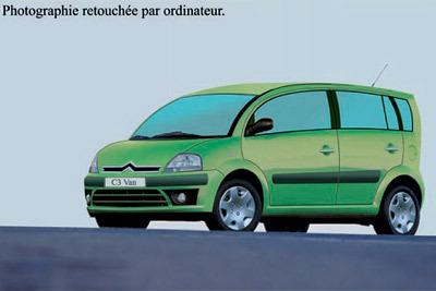 Citroën prépare une rivale pour la Modus : la C3 Van