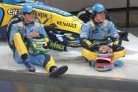 Les pilotes Renault passent de la F1 au tennis