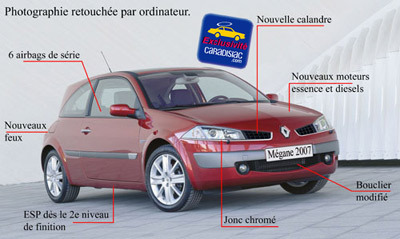 La Mégane sera modifiée en 2007