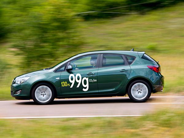 Opel Astra EcoFlex : 130 ch et 99gr CO2/km