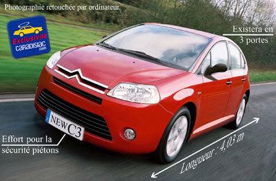 Une Citroën C3 toute nouvelle en 2008
