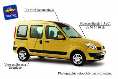 le renault kangoo va voluer en 2007. Black Bedroom Furniture Sets. Home Design Ideas