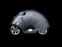 Concept : mi-scooter, mi-tatou, c'est un scooter solaire