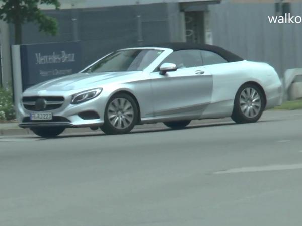 Surprise : la Mercedes Classe S cabriolet montre sa ligne