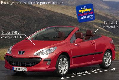 La Peugeot 308 CC arrivera en 2009 !