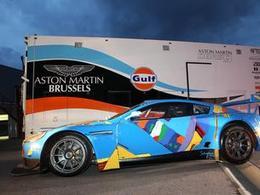 "Voici l'Aston Martin DBRS9 ""Art Car"""