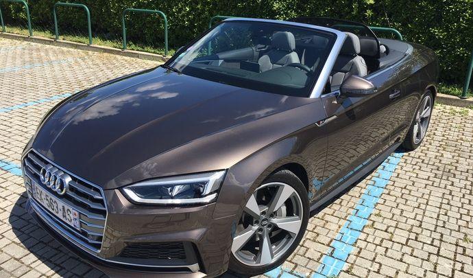Audi A5 Cabriolet 2017 : les premières images de l'essai en live