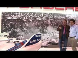 Vidéo en direct du Rétromobile 2014 - Porsche fête son retour aux 24 Heures du Mans en 2014
