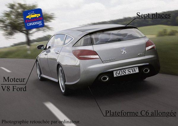 608 SW : un break de luxe chez Peugeot en 2009