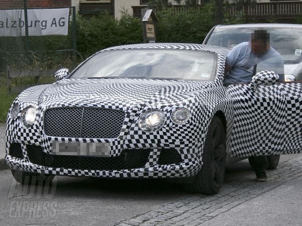 Spyshot : la nouvelle Bentley Continental GT se prépare pour le salon de Paris