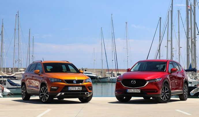 Comparatif vidéo - Mazda CX-5 vs Seat Ateca : le bal des outsiders.