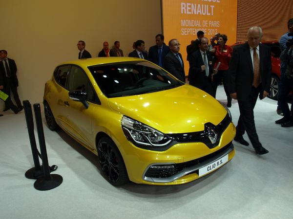 Vidéo en direct du Mondial de l'Auto - Renault Clio 4 R.S : du souffle !
