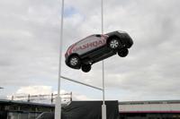 Un Qashqai transformé en ballon de rugby