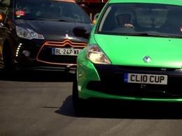 Top Gear : Renault Clio RS Cup vs Citroën DS3 Racing vs Abarth 500C SS sur le circuit de F1 de Monaco