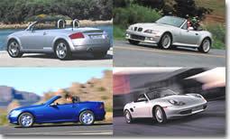 Audi TT , BMW Z3, Mercedes SLK, Porsche Boxster : la magie des roadsters