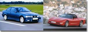 BMW M3 contre Chevrolet Corvette 98 : un match au sommet