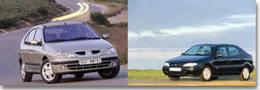 Citroën Xsara contre Renault Mégane