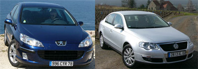 Peugeot 407 2.0 HDI 136 / VW Passat 2.0 TDI 140 ch : choc des cultures