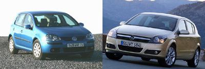 Opel Astra III 1.7 CDTI 100 -   Volkswagen Golf V 1.9 TDI 105