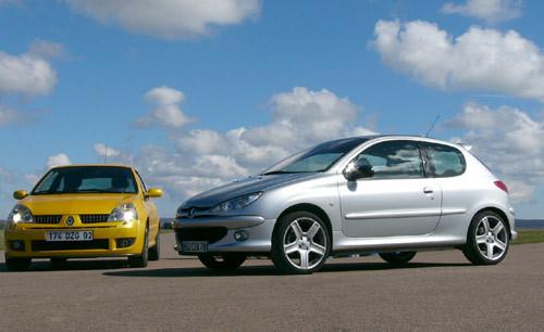 Renault Clio RS 2.0 182 ch - Peugeot 206 RC : deux bombes surdouées