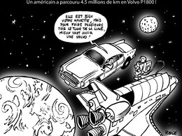 Le dessin du jour – 4.5 millions de km en Volvo P1800