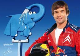 Elephant Bleu en campagne avec Sébastien Loeb