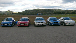 Des Subaru Impreza à la fête