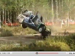 WRC Finlande : les tonneaux spectaculaires d'Hirvonen