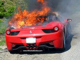 Ferrari 458 Italia carbonisée : le commencement du drame
