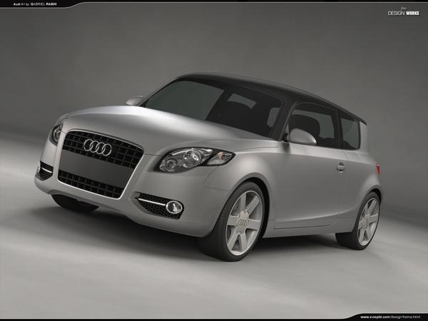 Audi A1: projection par Gabriel Rabhi
