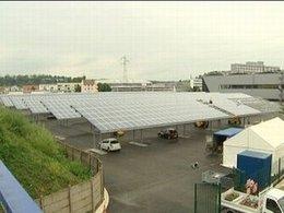Usine PSA Peugeot Citroën de Sochaux : un parking a droit  à 9300 m²  de panneaux photovoltaïques