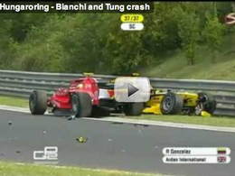 GP2/Hungaroring - L'accident de Bianchi et de Ho-Pin Tung en vidéo