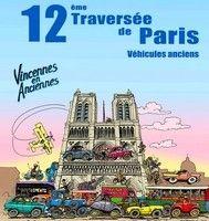 """12ème traversée de Paris avec l'association """"Vincennes en Anciennes"""" le 8 janvier 2012."""