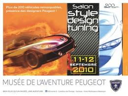 Musée de l'Aventure Peugeot : le Salon Style Design Tuning  à la rentrée
