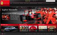 Un nouveau site internet pour Ferrari !