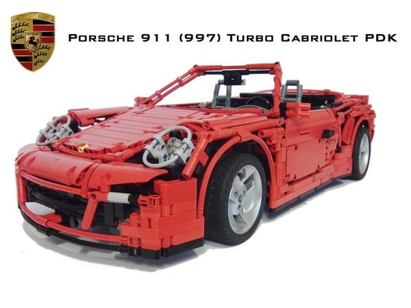 Nouvelle Porsche 911 Type 997 Turbo Cabriolet PDK ....en Légo ! [vidéo]