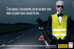 Publicité : Lagerfeld et le gilet jaune primés.