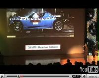 La Tesla Roadster passe les crash-tests !